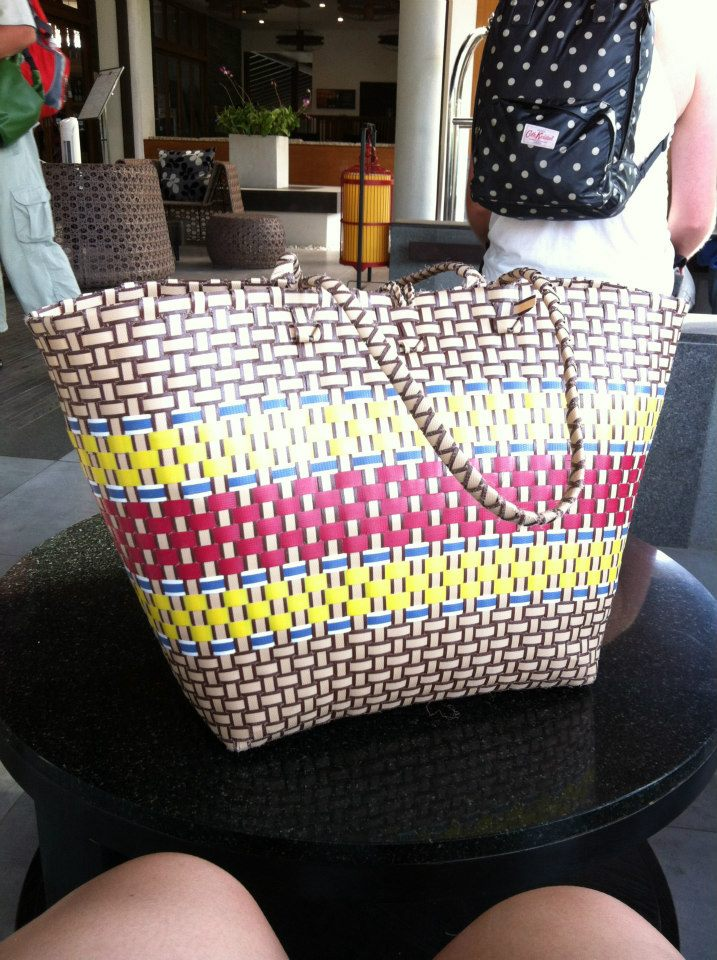 Our hotel inlcude this in every room which i thought was a very thoughtful gesture. A beach straw bag with beach towels.
