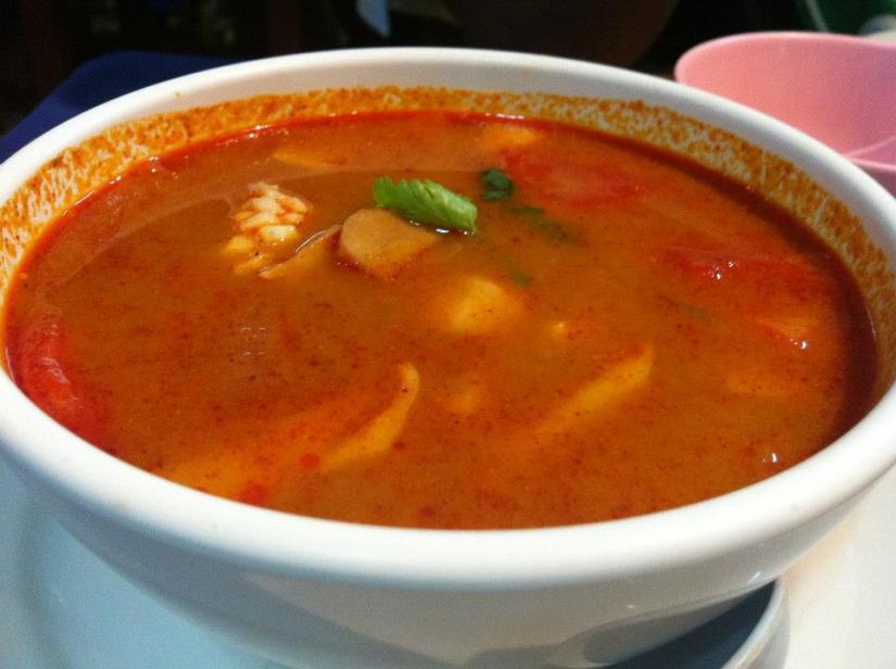 This Tom Yam Soup, was the bomb! Telinga berdesing!
