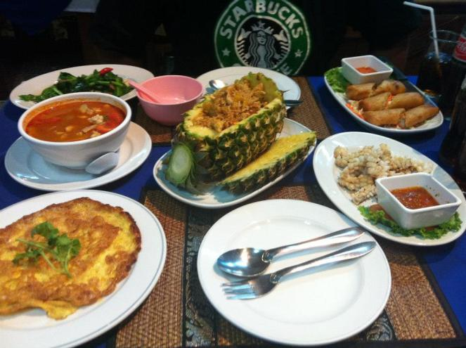 Our spread. Makan macam satu hari penat keluar laut cari ikan.
