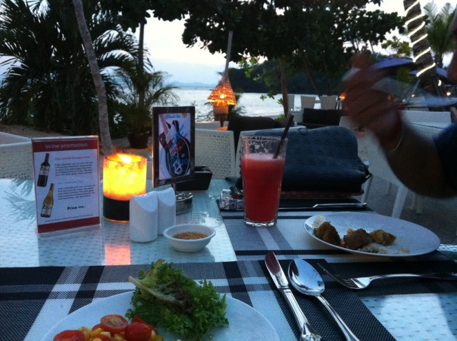Our very own Candlenight dinner by the seaside.