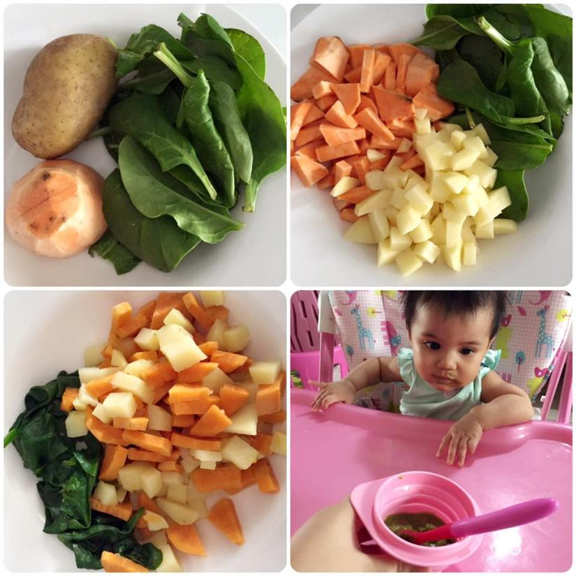 Russet Potato + Sweet Potato + Baby Spinach
